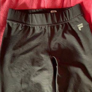 2 PAIRS-FILA cropped workout pants (spandex style)
